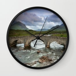 Bridge to the Valley Beyond Wall Clock