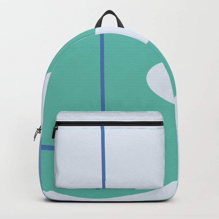 I don't know - on blue background Backpack