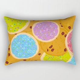 Frosted sugar cookies, Chocolate chip cookie, Italian Freshly baked sugar cookies Rectangular Pillow
