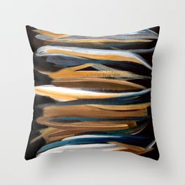 Brush Strokes on a Black Background Throw Pillow