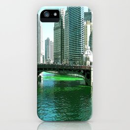 Chicago River on St. Patrick's Day #Chicago iPhone Case