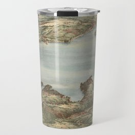 Vintage Pictorial Map of Lake Sunapee (1905) Travel Mug