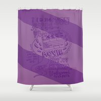 cinema Shower Curtains featuring CINEMA by Insait Disseny