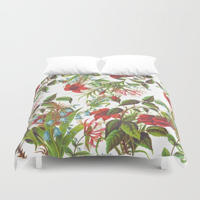 Ruby & Cerulean Floral Duvet Cover