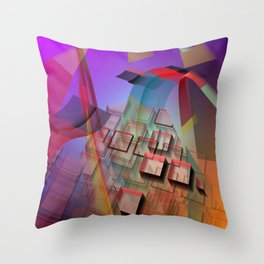 Modern geometric abstract with 3-d effects Throw Pillow