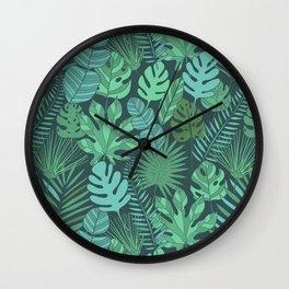 Tropical plantation Wall Clock