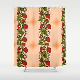 STRAWBERRY SUMMER Shower Curtain