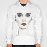 cara Hoodies featuring Cara by Vicky Ink.