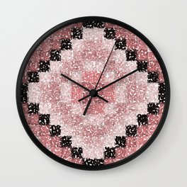 Pointillism 2 Wall Clock