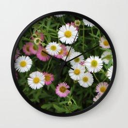 Erigeron Daisy II Wall Clock