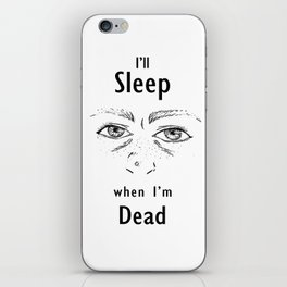 Sleep Deprivation iPhone Skin