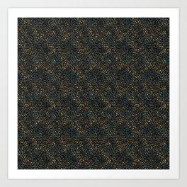 Blue Bronze Leopard Print Art Print