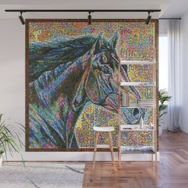 Colorful Head Horse Wall Mural