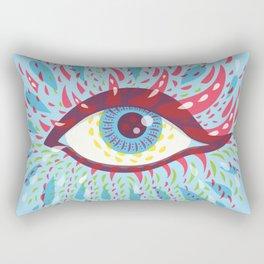 Weird Blue Psychedelic Eye Rectangular Pillow