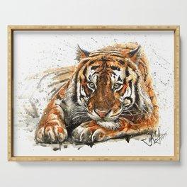 Tiger watercolor Serving Tray
