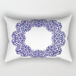 Ornate mandala - blue Rectangular Pillow