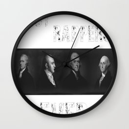 Best Rappers Ever - Hamilton (White text) Wall Clock