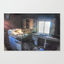 Couldn't Take the Heat, but Couldn't Leave the Kitchen Canvas Print