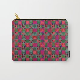 Mid Century Geometry Electric Pink Carry-All Pouch