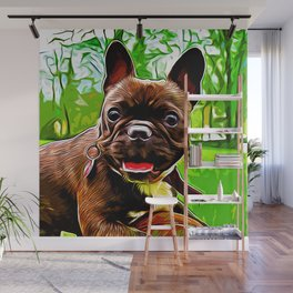 french bulldog basketball vector art Wall Mural