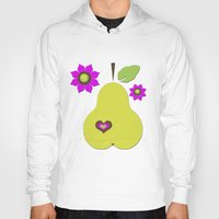 pear Hoodies featuring pear by snorkdesign