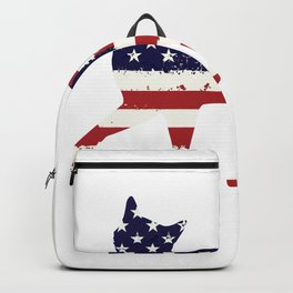 USA Independence Day American Flag Animals Cat Backpack
