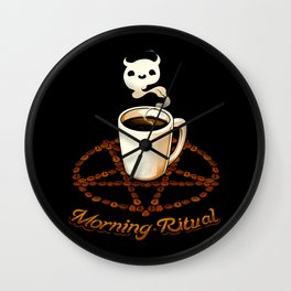 Morning Ritual Wall Clock