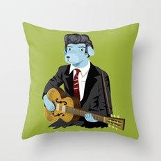 The Rockabilly Dog Throw Pillow