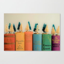 Muted Rainbow Christmas Canvas Print