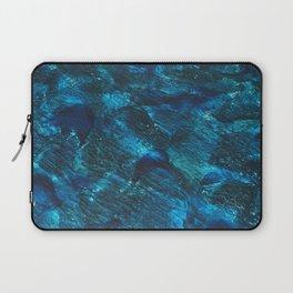 Blue waves background Laptop Sleeve