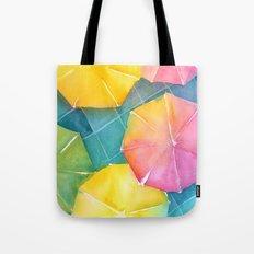 Rainy Day Umbrellas Tote Bag