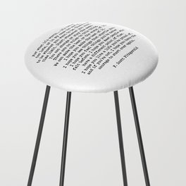 Life quote, For what it's worth, F. Scott Fitzgerald Quote Counter Stool