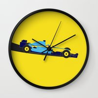 f1 Wall Clocks featuring Alonso Renault F1 by Salmanorguk