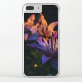 Golden hour flowers Clear iPhone Case