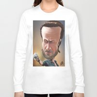 rick grimes Long Sleeve T-shirts featuring Rick Grimes by Carrillo Art Studio