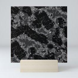 black dragon scales camouflage Mini Art Print