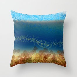 Abstract Seascape 01 w Throw Pillow