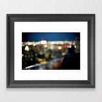 New York City Blinding Lights Framed Art Print