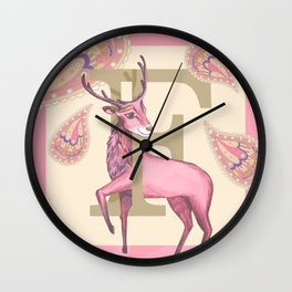 Fiadh Deer Wall Clock