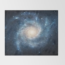 Spiral Galaxy Throw Blanket