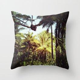 Sunlit Palm Throw Pillow