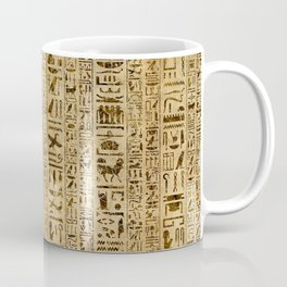 Egyptian hieroglyphs on papyrus Coffee Mug