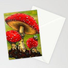 Fairy Cap Mushrooms Stationery Cards