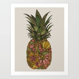 Pineappleflower Art Print