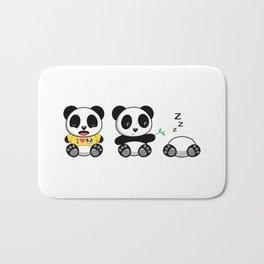 Three Little Pandas Bath Mat