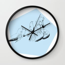 Sea lions Wall Clock