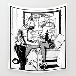 An Office Affair Wall Tapestry