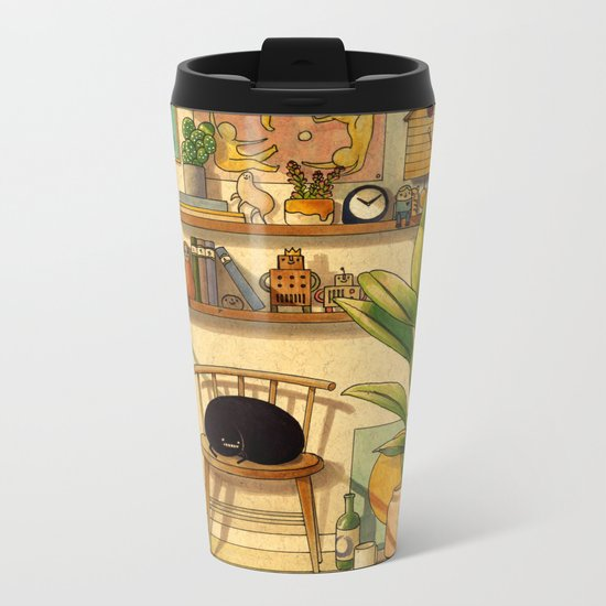 Afternoon Sun Metal Travel Mug