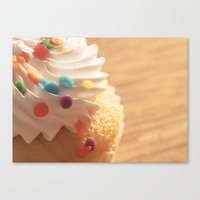 cupcake Canvas Prints featuring cupcake by Susigrafie