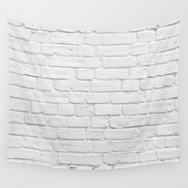 White Brick Wall Wall Tapestry